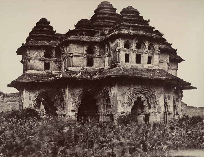 Beejanuggur. Pavilion in the palace. [Lotus Mahal, Vijayanagara.]